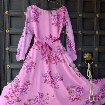 Pink-color-summer-gown
