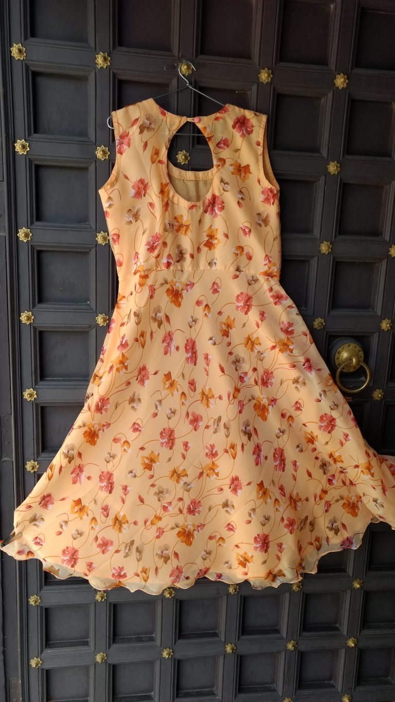 Summer Gown_peach color_Stylo247