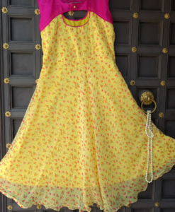 Yellow-color-summer-gown