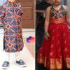 Best-out-of-waste-brother-kurta-with-sister-choli-design