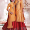 Best-out-of-waste-mom-and-daughter-kurta-with-Lehenga-Indo-western-Design