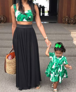 Best-out-of-waste-mom-and-daughter-top-with-frock-design